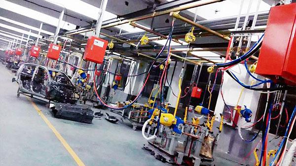 普电悬挂点焊机定制案例
