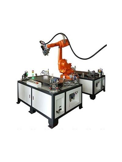 双工位机器人激光焊接工作站